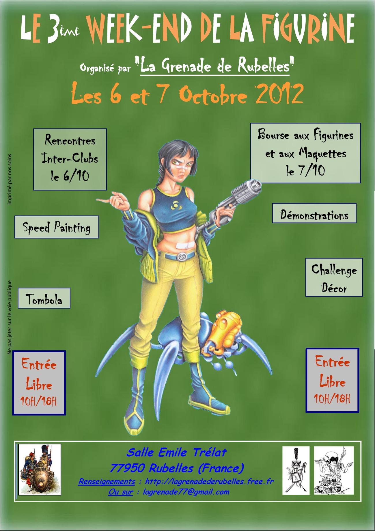 3ème week-end de la figurine de Rubelles Affiche2012a